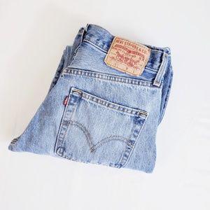 Vintage Levi 501 High Rise Tapered Leg Mom Jean